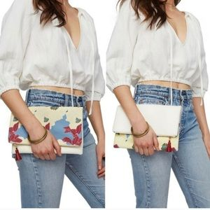 Rachel Pally Reversible Clutch with Vegan Leather